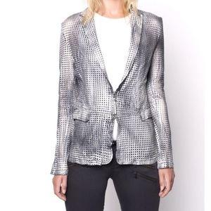 ATTICA Genuine Leathrer Jacket Silver/ Grey